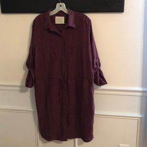 Cranberry silk Ann Taylor Loft dress